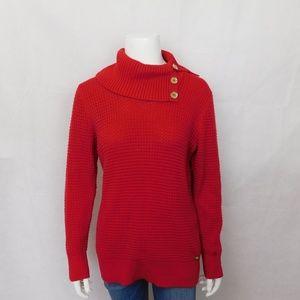 Calvin Klein Red Turtleneck Sweater